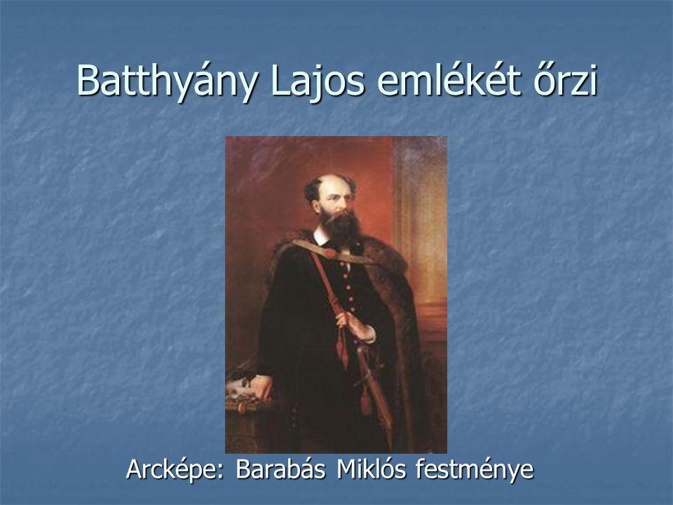 Batthyány Lajos emlékét őrzi Arcképe: Barabás Miklós festménye