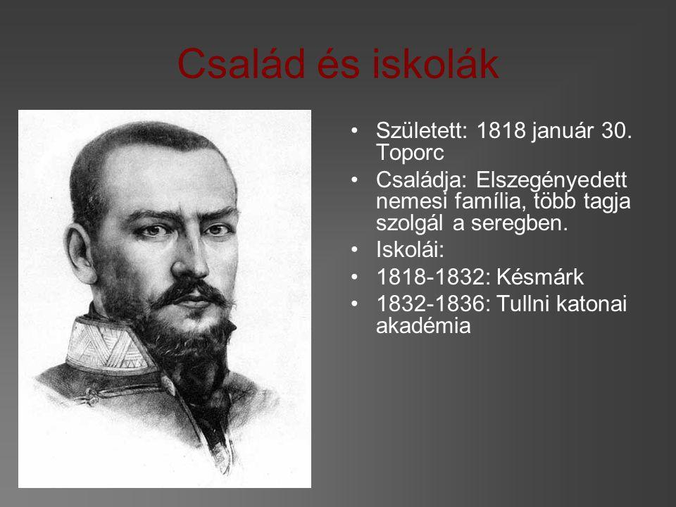 Család és iskolák Született: 1818 január 30.