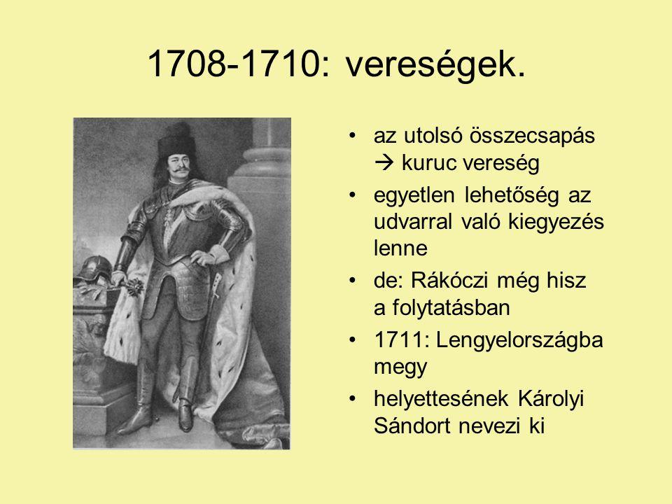 1708-1710: vereségek.
