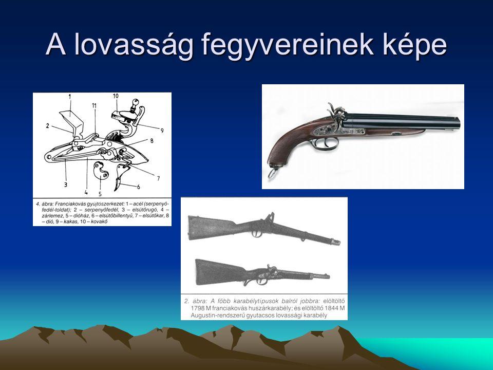 A lovasság fegyvereinek képe