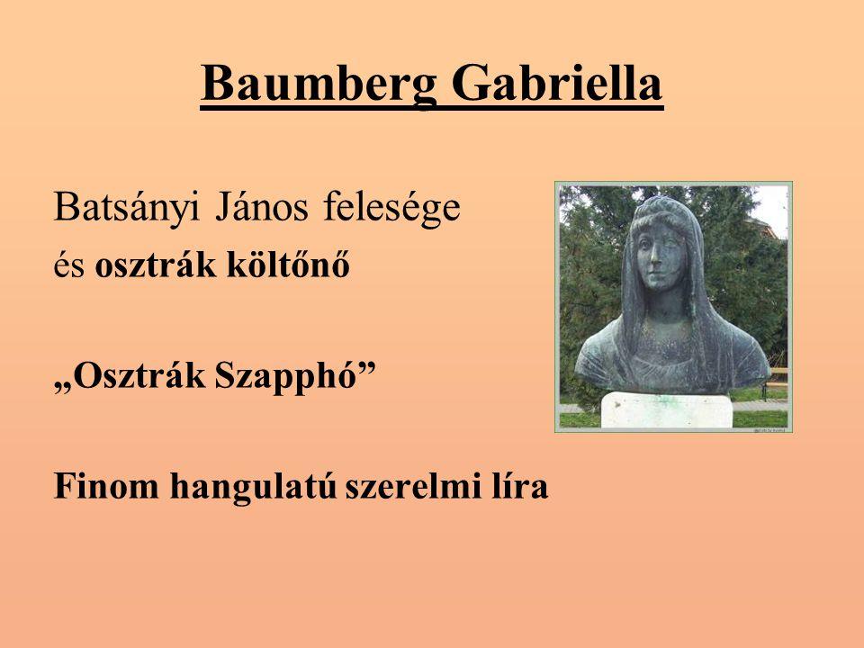 """Baumberg Gabriella Batsányi János felesége és osztrák költőnő """"Osztrák Szapphó Finom hangulatú szerelmi líra"""
