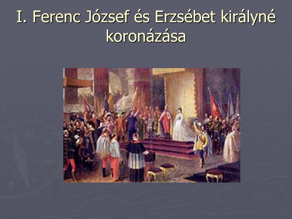 I. Ferenc József és Erzsébet királyné koronázása