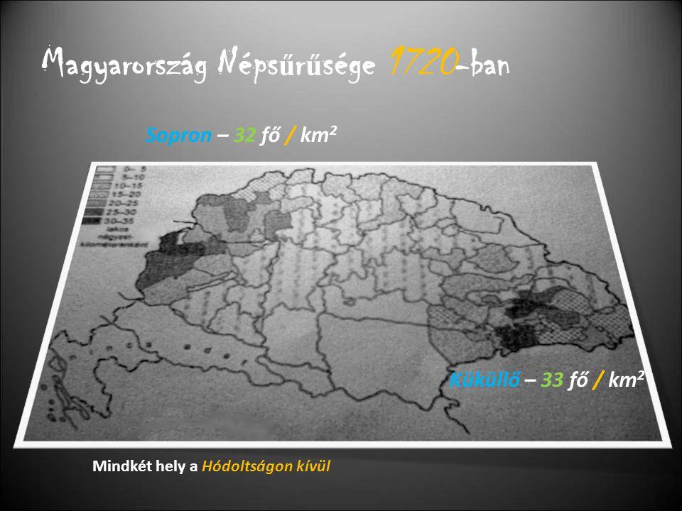 A Magyar és az Európai népesség aránya 1500-ban, és 1700-ban 1500-ban 1700-ban - nagy arányú csökkenés