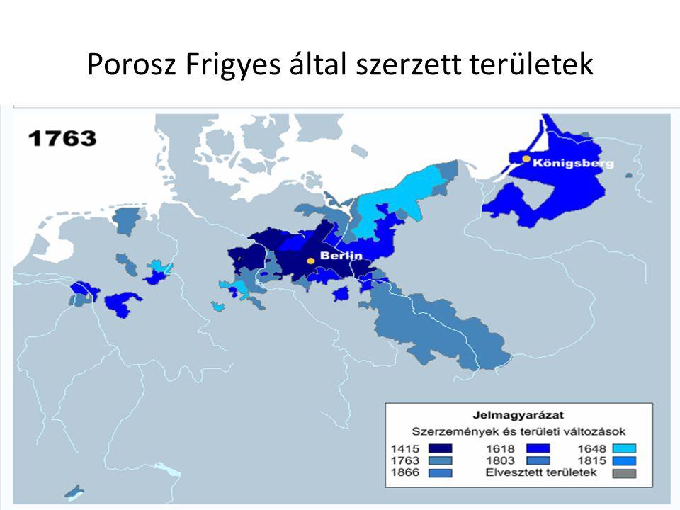 Porosz Frigyes által szerzett területek