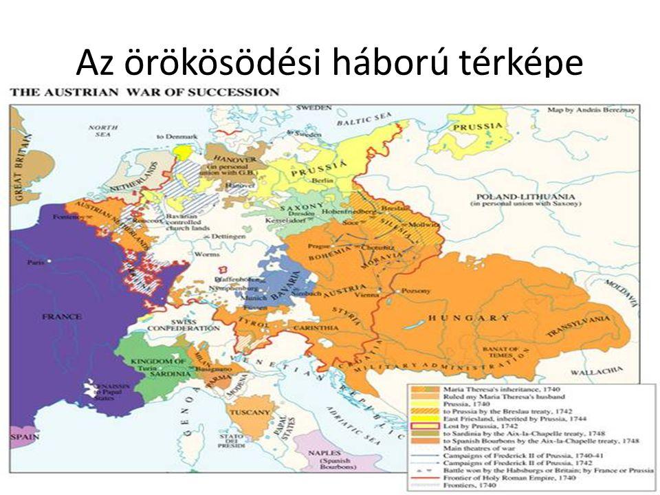 Az örökösödési háború térképe