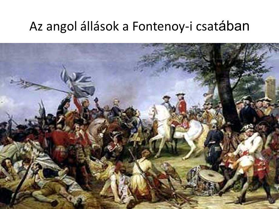 Az angol állások a Fontenoy-i csat ában