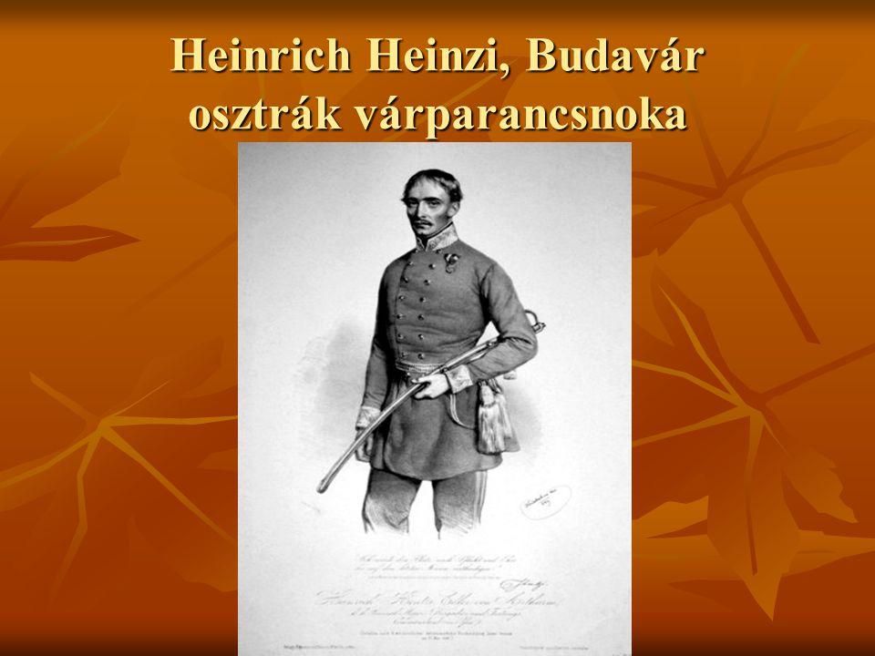 Heinrich Heinzi, Budavár osztrák várparancsnoka