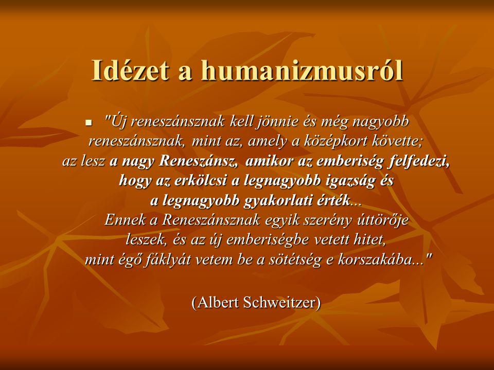 Idézet a humanizmusról