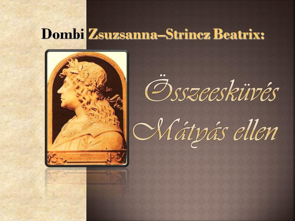 Dombi Zsuzsanna–Strincz Beatrix: