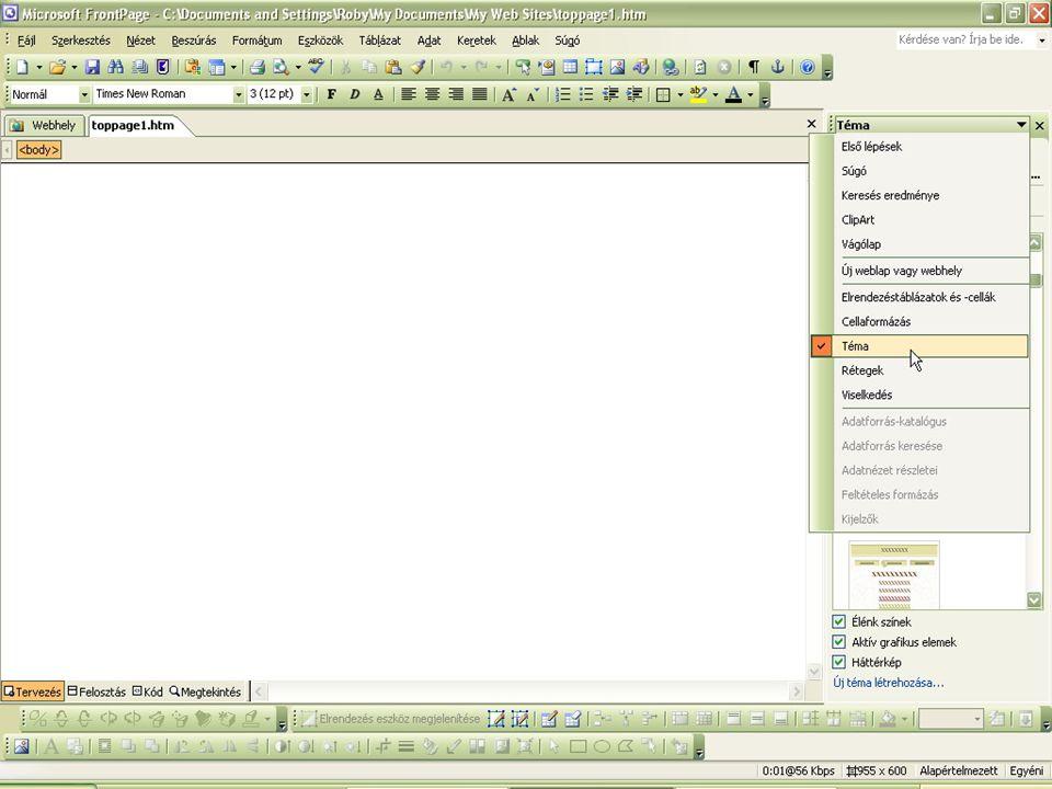 3.lépés zSzalagcím (A honlap/oldal címének) megadása zBeszúrás ySzalagcím xszalagcím tulajdonságai beállítása