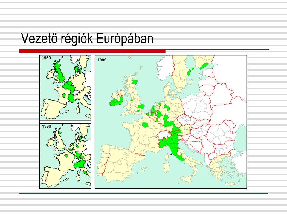 Vezető régiók Európában