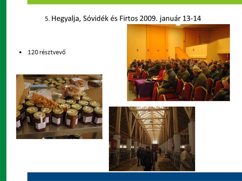 5. Hegyalja, Sóvidék és Firtos 2009. január 13-14 120 résztvevő