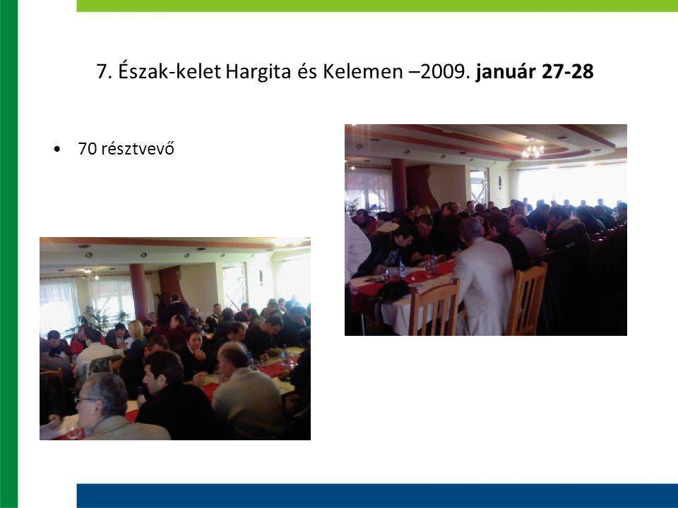 7. Észak-kelet Hargita és Kelemen –2009. január 27-28 70 résztvevő
