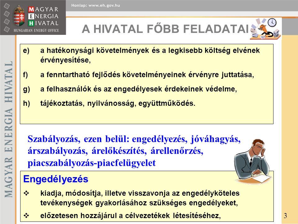 e)a hatékonysági követelmények és a legkisebb költség elvének érvényesítése, f)a fenntartható fejlődés követelményeinek érvényre juttatása, g)a felhasználók és az engedélyesek érdekeinek védelme, h)tájékoztatás, nyilvánosság, együttműködés.