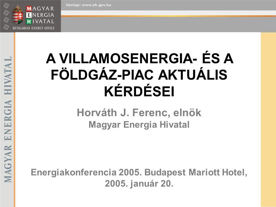 Horváth J. Ferenc, elnök Magyar Energia Hivatal Energiakonferencia 2005.