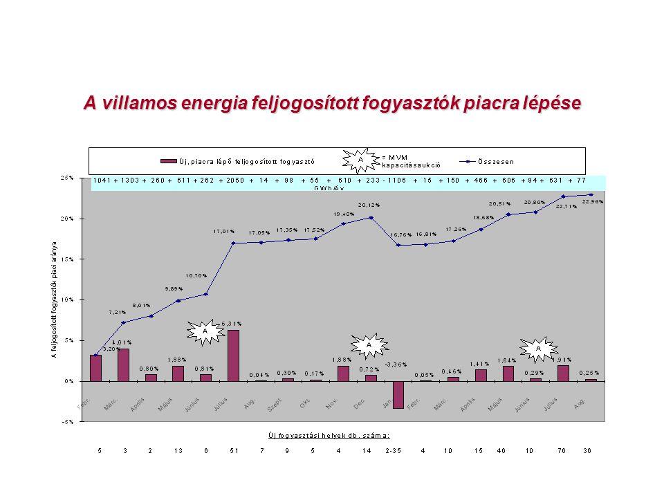 A villamos energia feljogosított fogyasztók piacra lépése