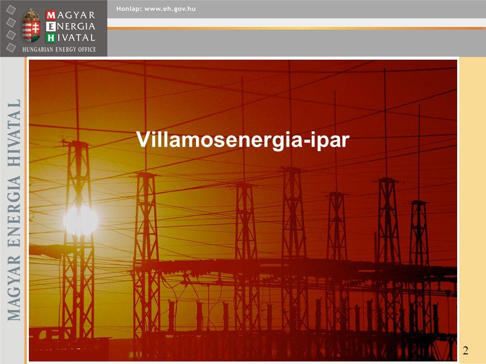 """EGYETEMES SZOLGÁLTATÁS (2) 13 energiafüggő díjak (Ft/kWh) GKM rendelet szerinti konkrét hatósági díjak (változatlan szinten továbbszámlázva) Piaci alapú """"benchmark ár (árellenőrzés) Kv-i törvény (VET) GKM rendelet alapján (ársapka) Szabályozás Árszerkezet Átviteli- rendszerirányítási díj Rendszerszintű szolgáltatások díja Külön árelemek ÁFA Egyetemes szolgáltatói termékár Egyetemes szolgáltatói árrés ÁFA törvény rendszerhasználati díjak (RHD) — átállási költség — szénfillér — iparági nyugdíjasok kedv."""