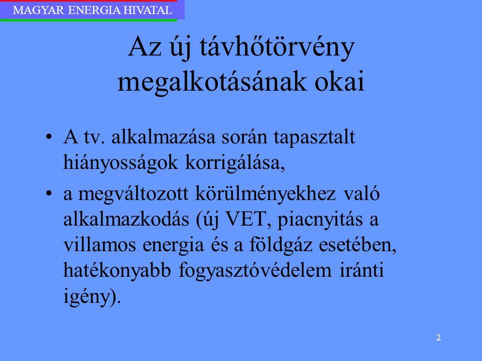 MAGYAR ENERGIA HIVATAL 13 Új elemek a Vhr.-ben II.