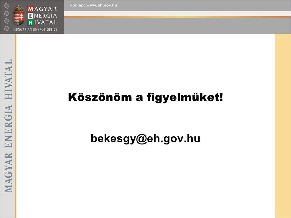 Köszönöm a figyelmüket! bekesgy@eh.gov.hu