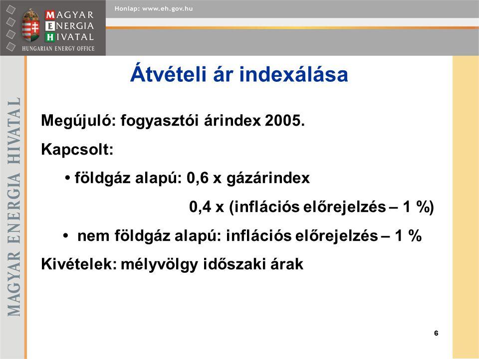 6 Megújuló: fogyasztói árindex 2005.