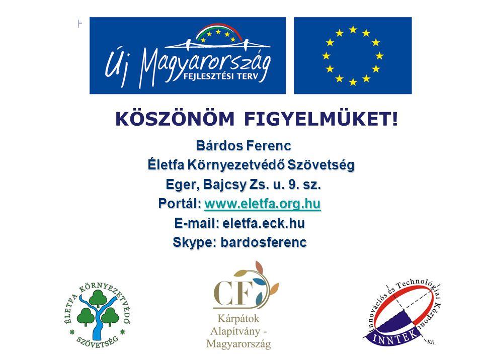 Heves megyei civil szervezetek komplex szervezetfejlesztése ÚJ MAGYARORSZÁG FEJLESZTÉSI TERV - KÖSZÖNÖM FIGYELMÜKET.
