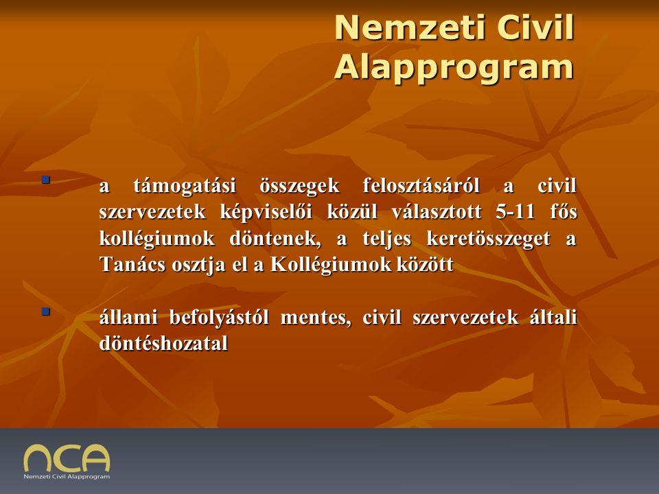 5.A pályázó szervezet 2008. évi NCA működési támogatásával való elszámolás megítélése 5.