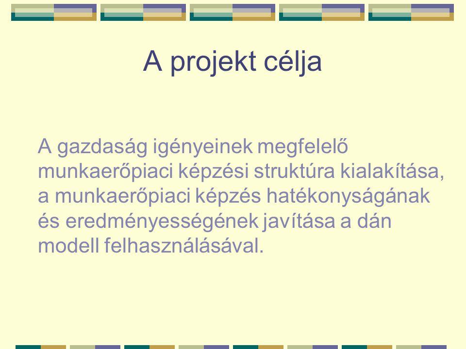 A projekt célja A gazdaság igényeinek megfelelő munkaerőpiaci képzési struktúra kialakítása, a munkaerőpiaci képzés hatékonyságának és eredményességének javítása a dán modell felhasználásával.