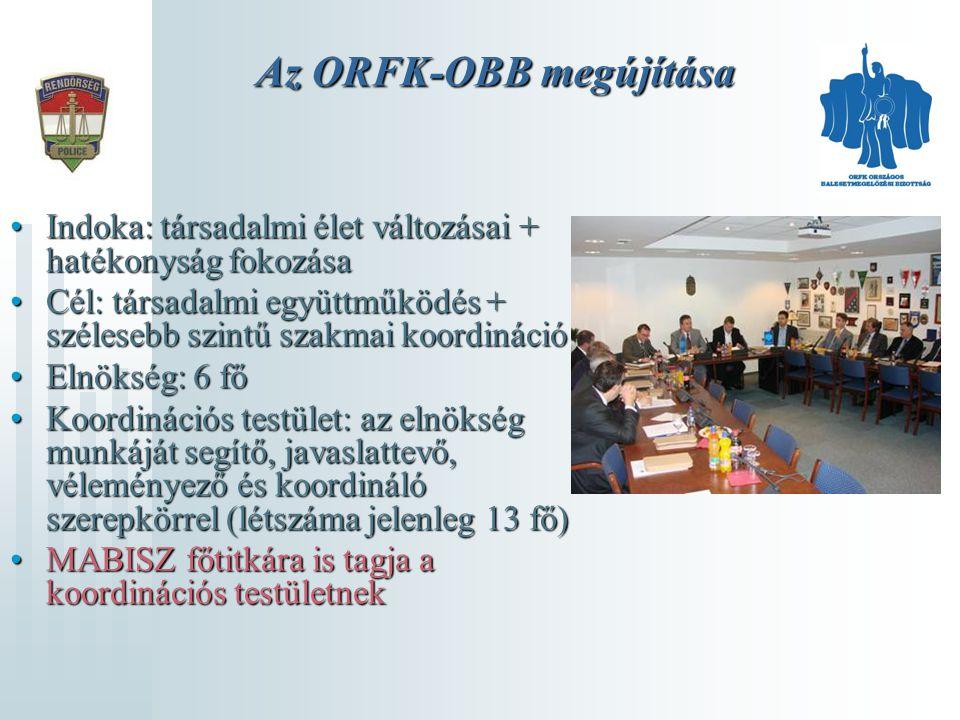 Az ORFK-OBB megújítása Indoka: társadalmi élet változásai + hatékonyság fokozásaIndoka: társadalmi élet változásai + hatékonyság fokozása Cél: társada