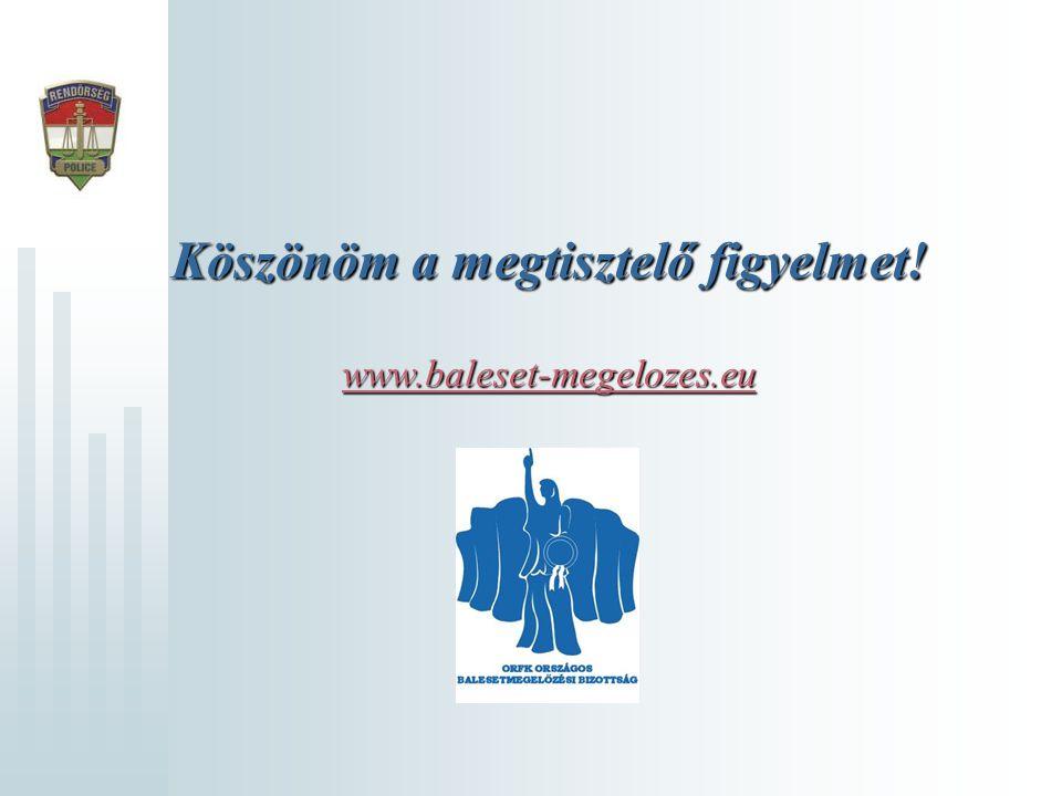 Köszönöm a megtisztelő figyelmet! www.baleset-megelozes.eu www.baleset-megelozes.eu