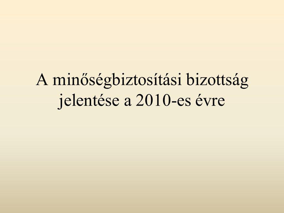 A minőségbiztosítási bizottság jelentése a 2010-es évre