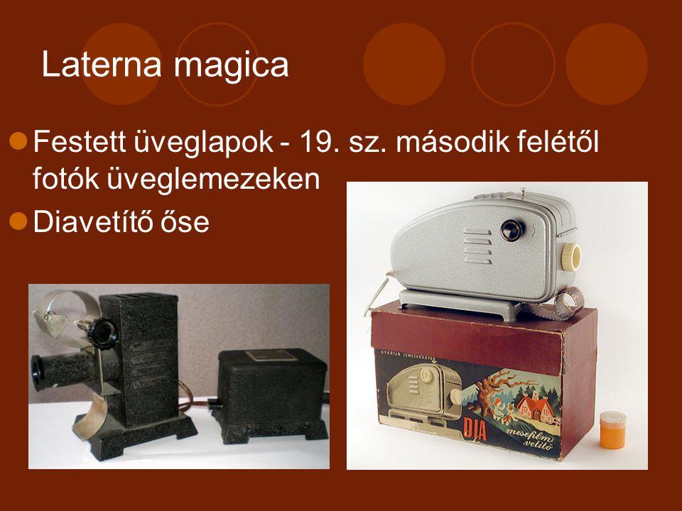 2. A mozgásábrázolás és eszközei Optikai játékok
