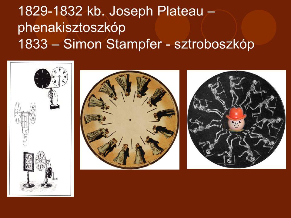1833 – William Horner – zootróp v. csodadob