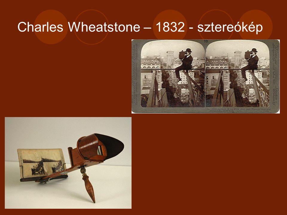 Charles Wheatstone – 1832 - sztereókép