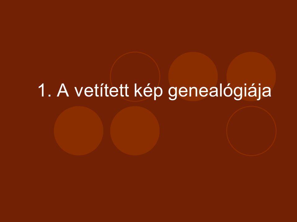 1. A vetített kép genealógiája
