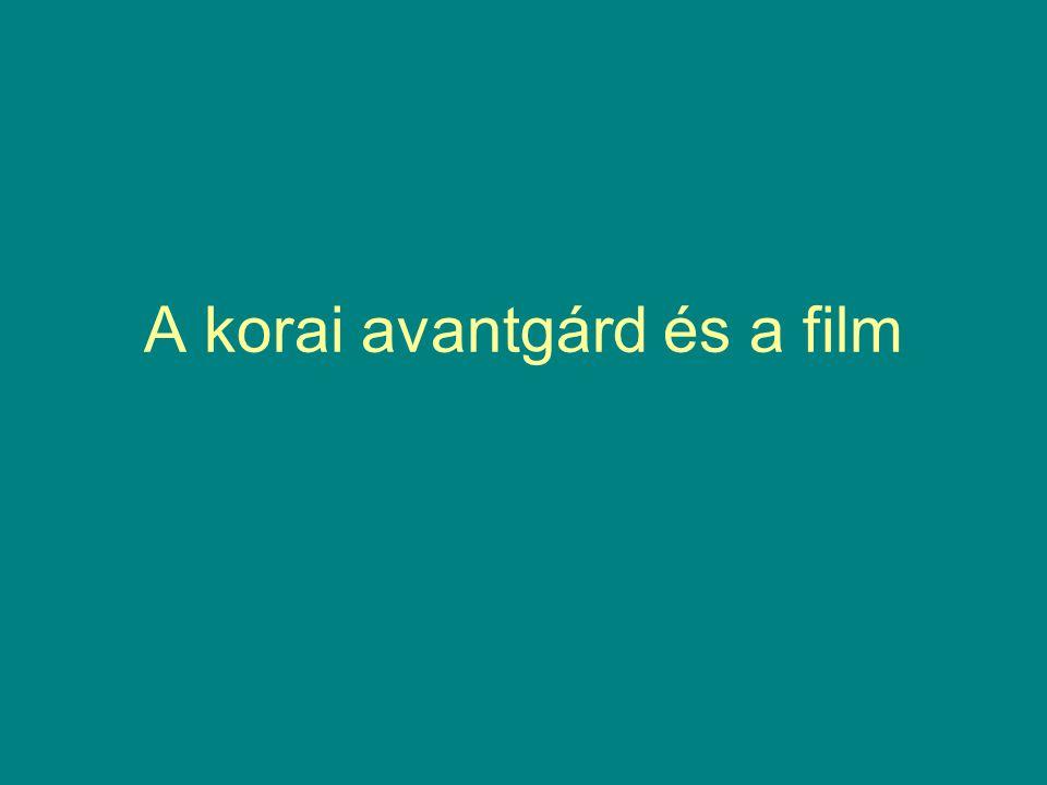 A korai avantgárd és a film
