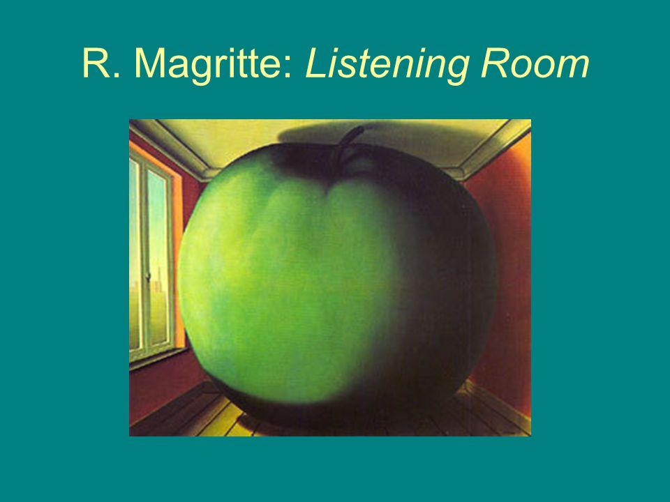 R. Magritte: Listening Room