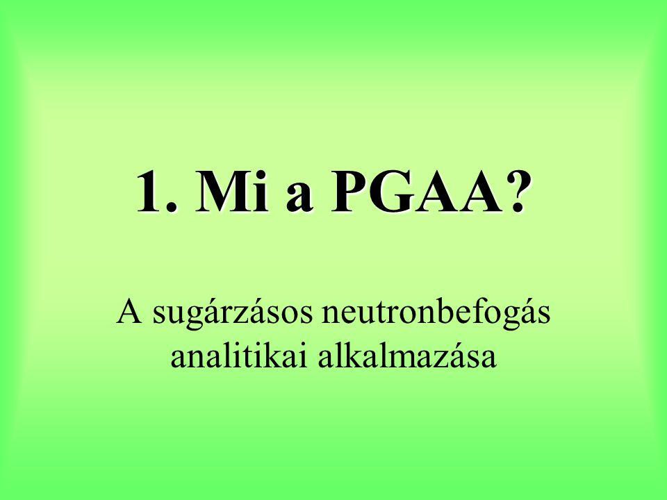 1. Mi a PGAA? A sugárzásos neutronbefogás analitikai alkalmazása