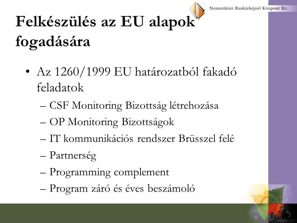 Problémák, feladatok (folyt.) Meg kell szüntetni a kettősséget, az átfedéseket a monitoring minden területén –bizottsági rendszer –tárcák monitoring osztályok?.