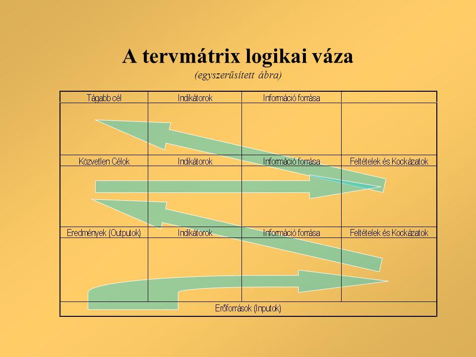 A tervmátrix logikai váza (egyszerűsített ábra)