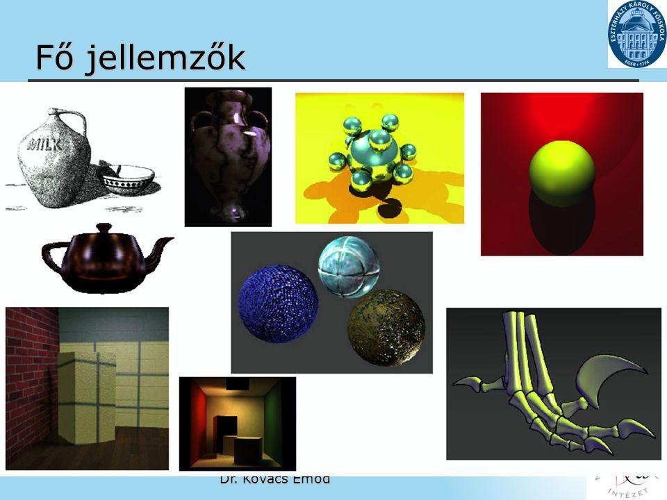 Matematikai és Informatikai Intézet http://matinf.ektf.hu Dr. Kovács Emőd www.ektf.hu Fő jellemzők - Képfeldolgozás ( representing 2D images) - Modell