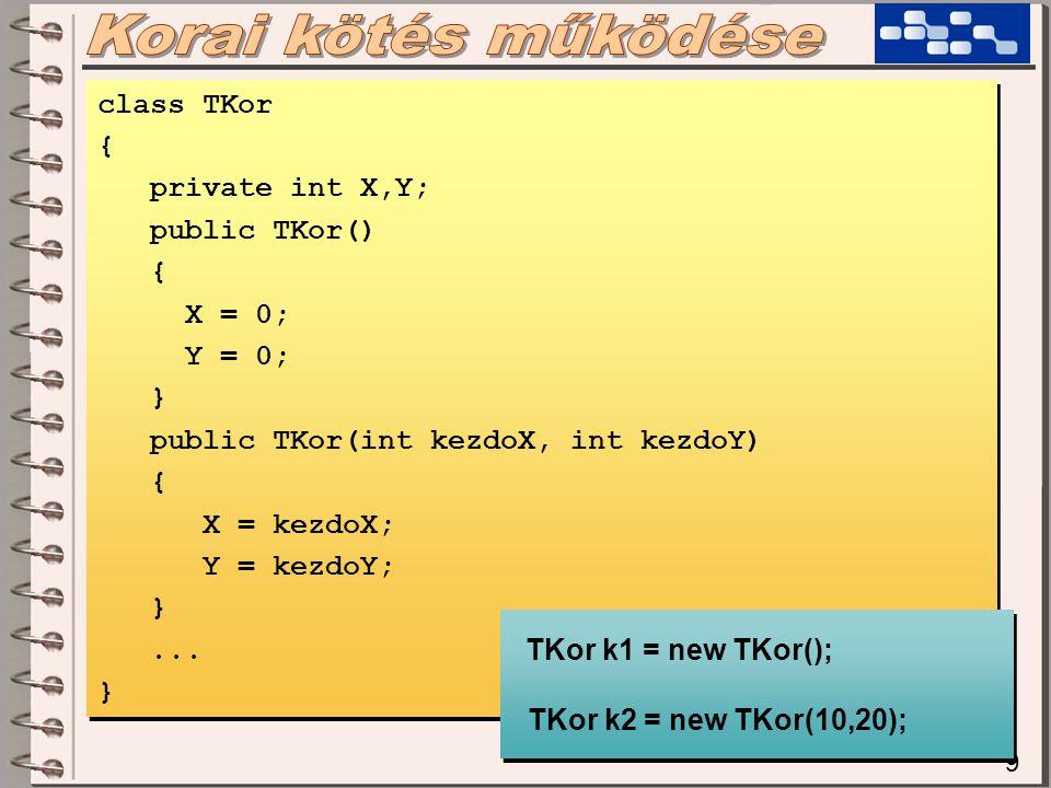 class TOs { public TOs(int akarmi) {...} class TOs { public TOs(int akarmi) {...