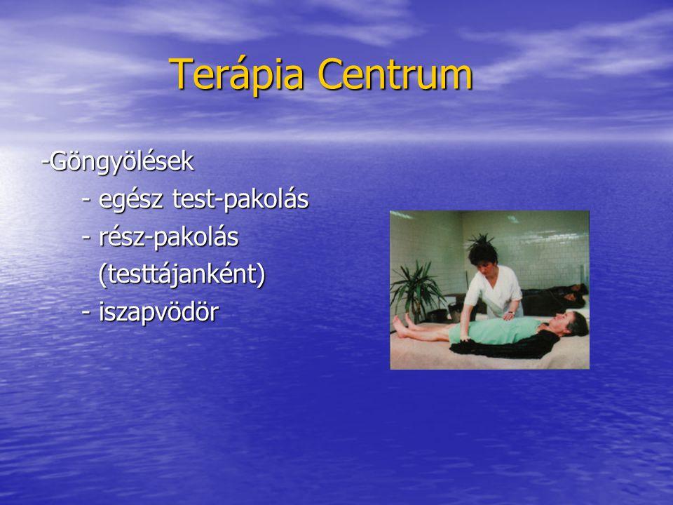 Terápia Centrum Terápia Centrum -Göngyölések - egész test-pakolás - egész test-pakolás - rész-pakolás - rész-pakolás (testtájanként) (testtájanként) -