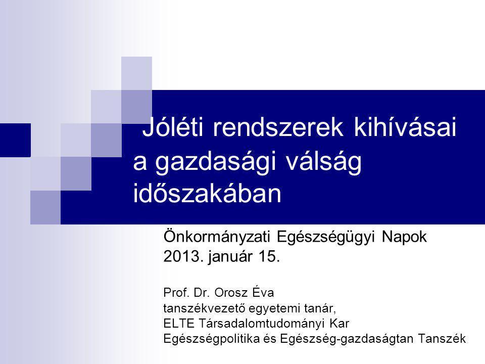 """Magyar egészségügy: lehetséges szcenáriók A válság enyhítése szemléletváltás  a gazdaság és egészségügy szerepének újragondolása a politikai és gazdasági elit által őszinte helyzetértékelés – és annak a társadalom számára világossá tétele a közkiadások és magánkiadások átgondolt növelése """" fájdalmas intézkedések meghozatala  kórházbezárás, tb szolgáltatási csomag szűkítése, co-payment szélesítése, stb."""