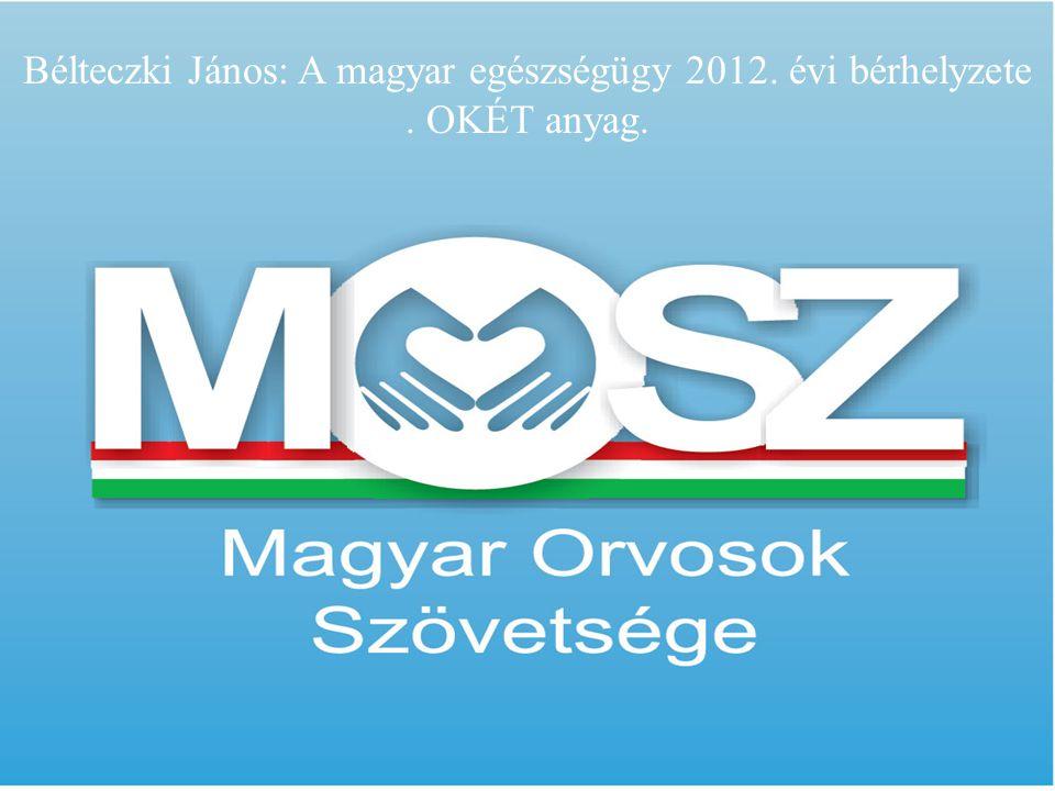 Bélteczki János: Magyar egészségügy 2012 OKÉT tájékoztató Bélteczki János: A magyar egészségügy 2012. évi bérhelyzete. OKÉT anyag.