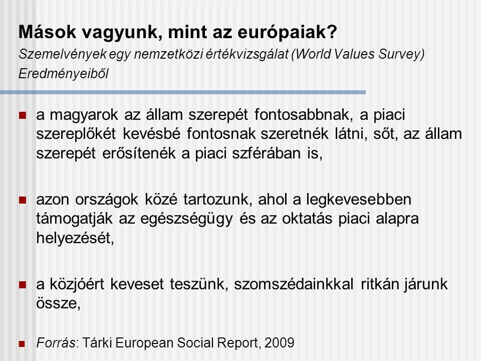 Mások vagyunk, mint az európaiak.
