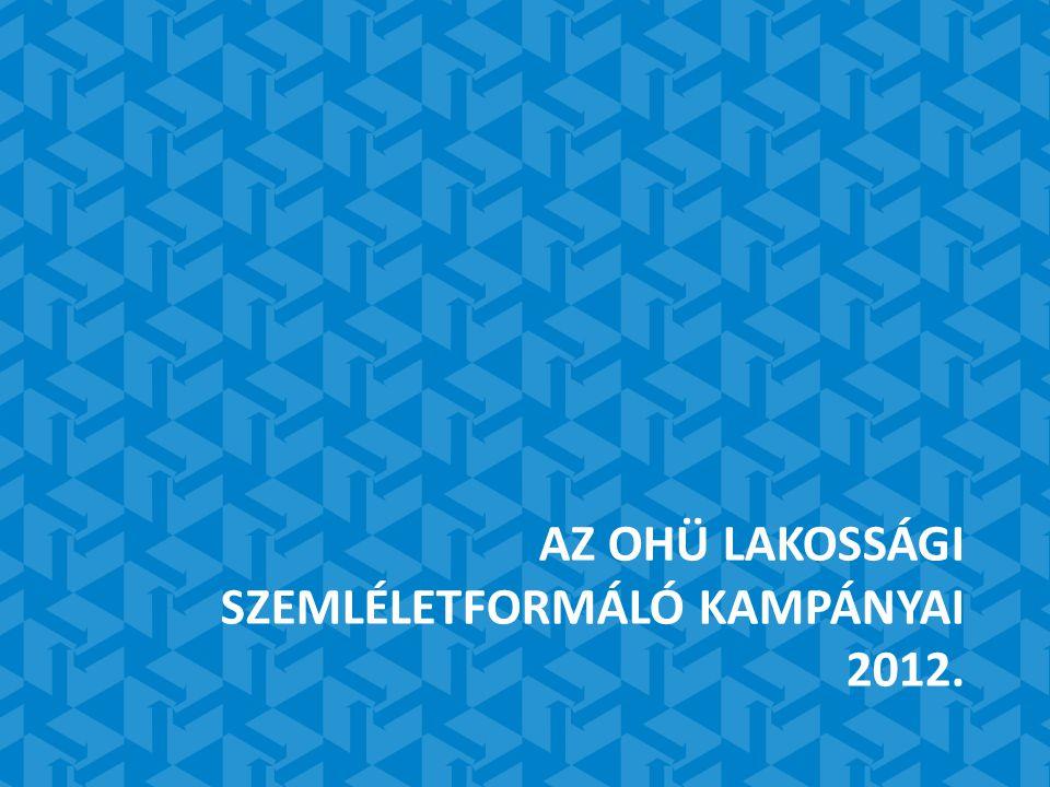 AZ OHÜ LAKOSSÁGI SZEMLÉLETFORMÁLÓ KAMPÁNYAI 2012.