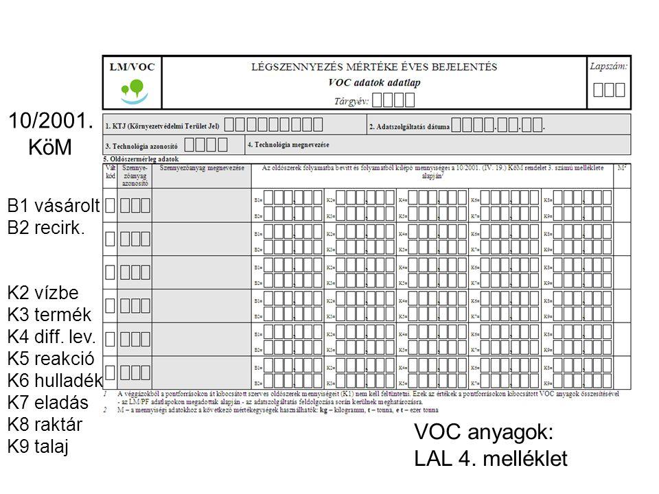 Csak L esetén L LAL 6. melléklet