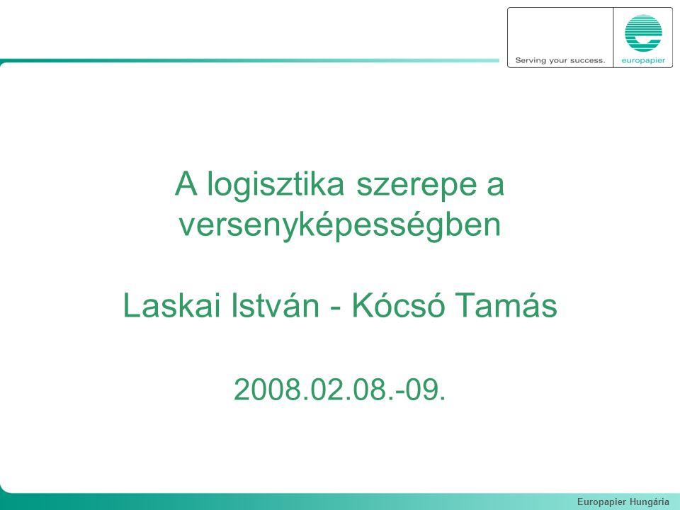 Europapier Hungária A logisztika szerepe a versenyképességben Laskai István - Kócsó Tamás 2008.02.08.-09.