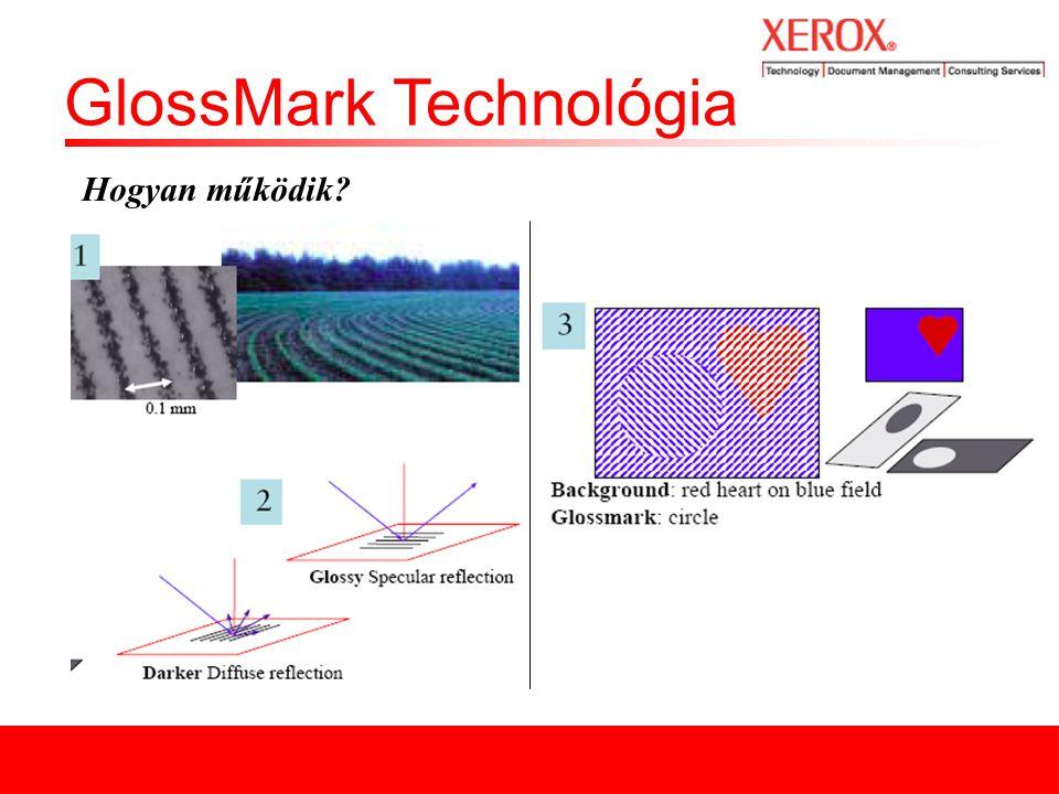 GlossMark Technológia Néhány példa a GlossMark használatára: