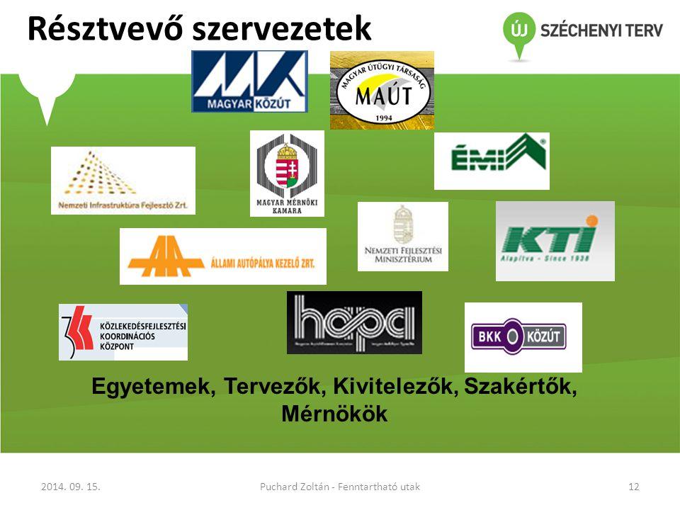 Résztvevő szervezetek 2014.09.